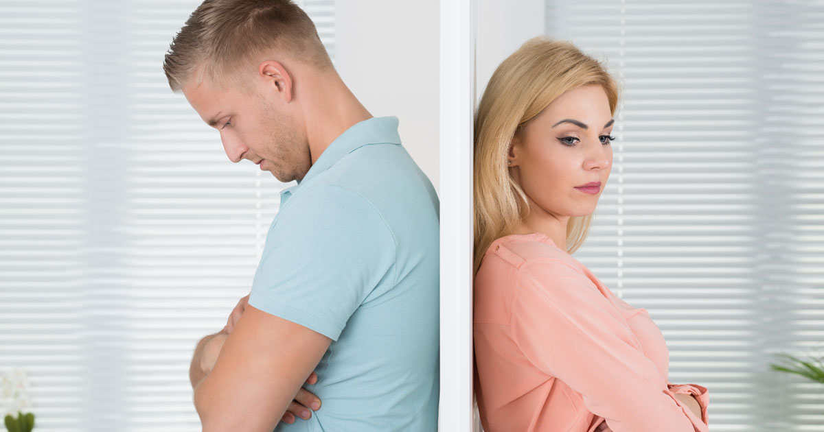 wall separating couple